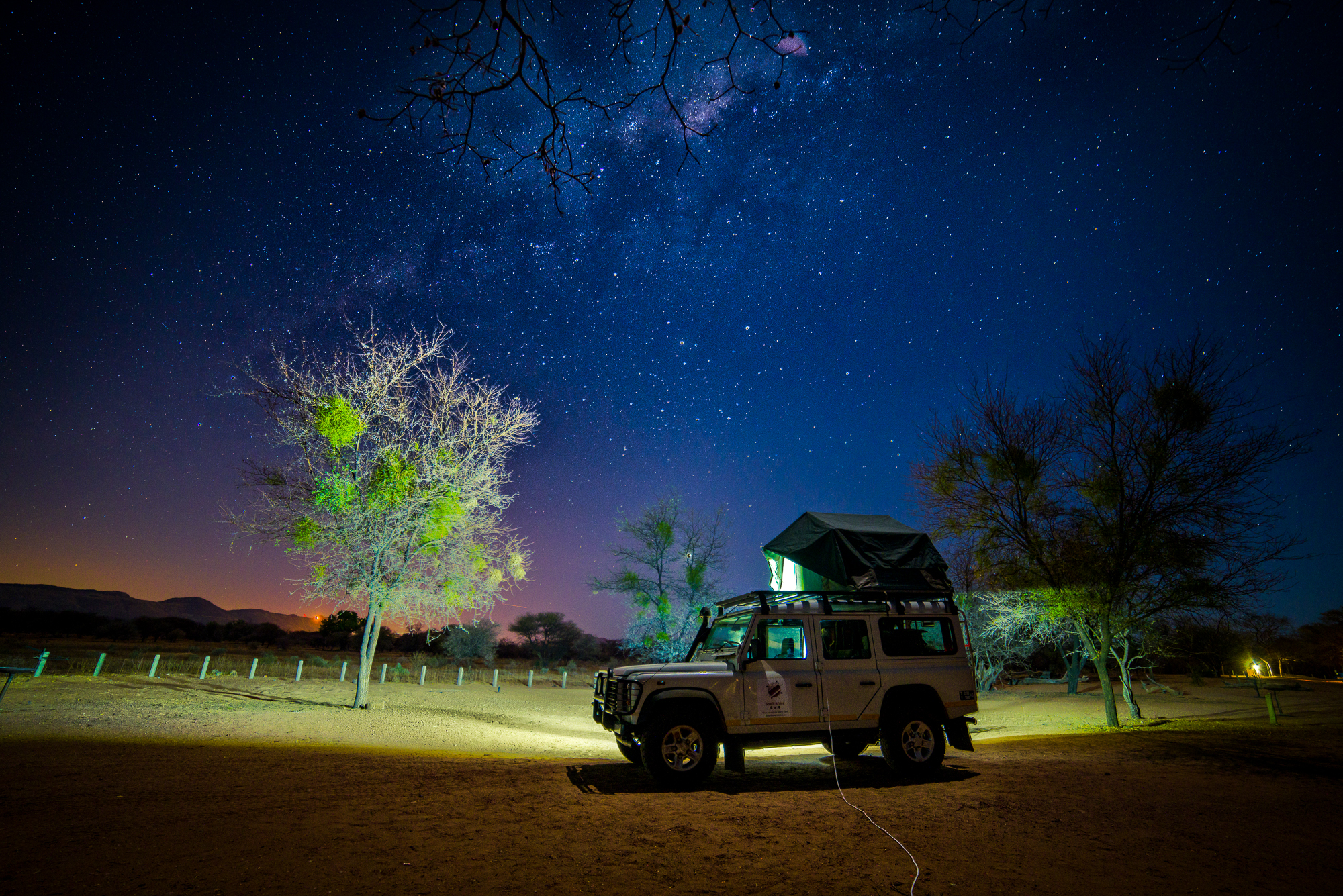 Slapen onder de sterren in Marakele Nationaal Park