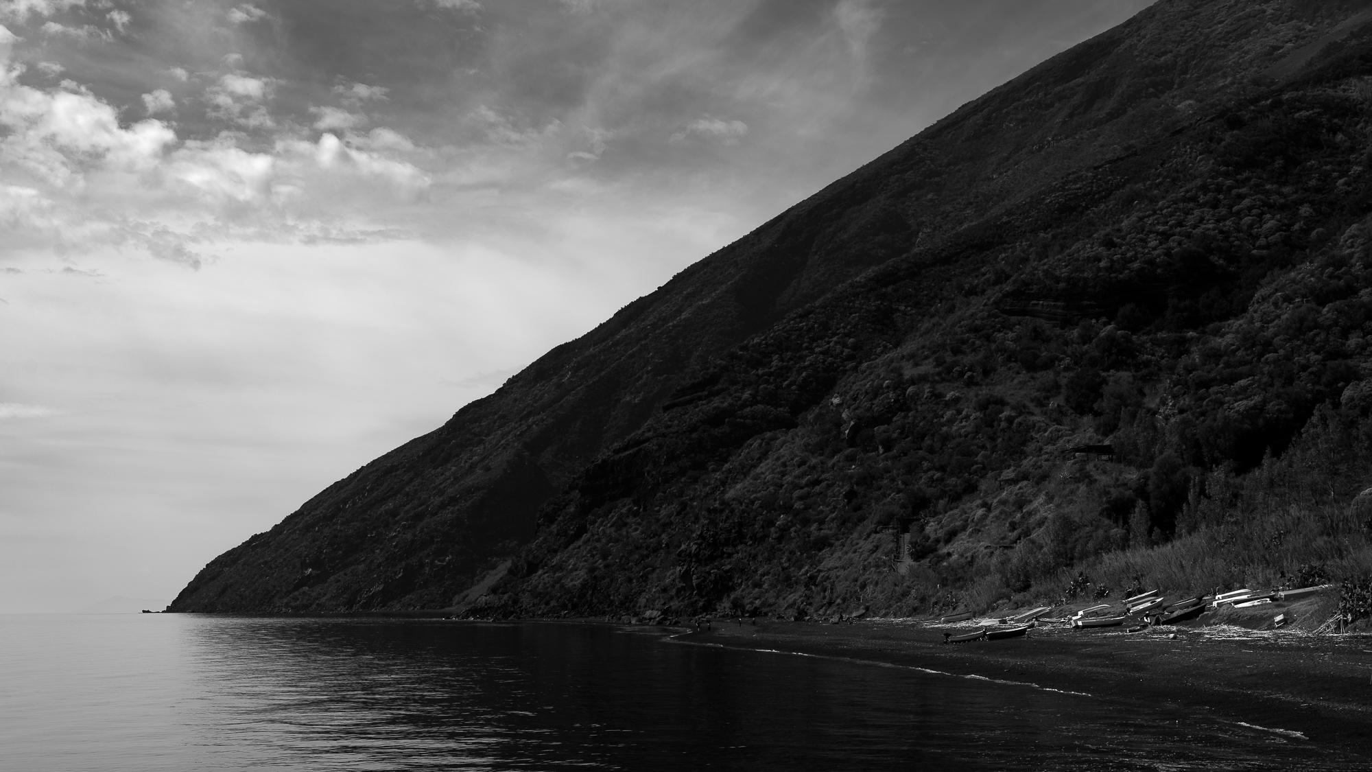 De bovenste 900 meter van Stromboli begint op zeeniveau