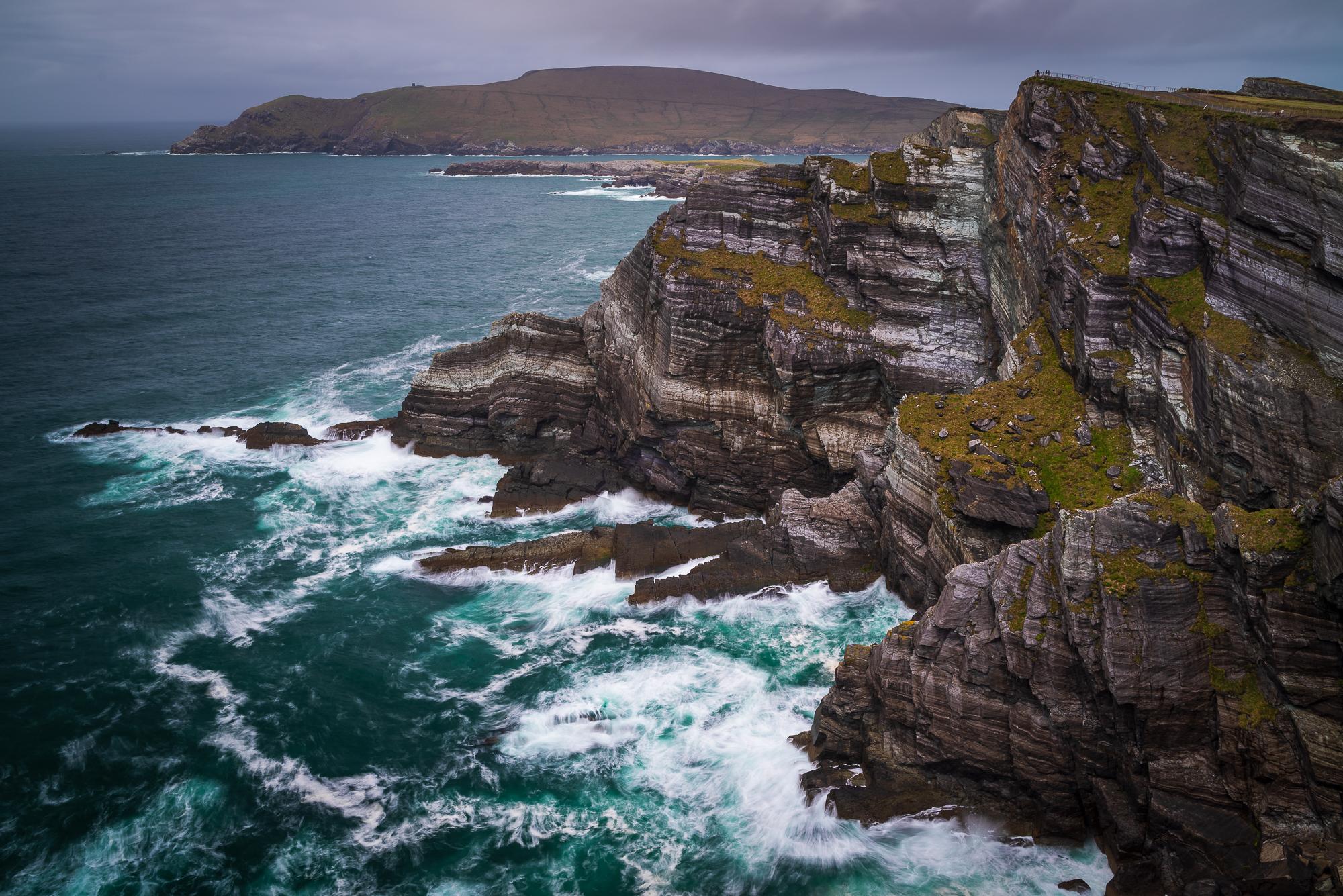 Kliffen nabij Portmagee (F11, 1.6 sec, iso 100, 6 stop filter)