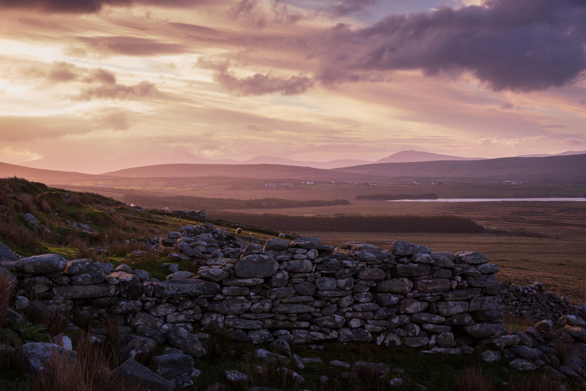 Zonsopkomst in Achill island