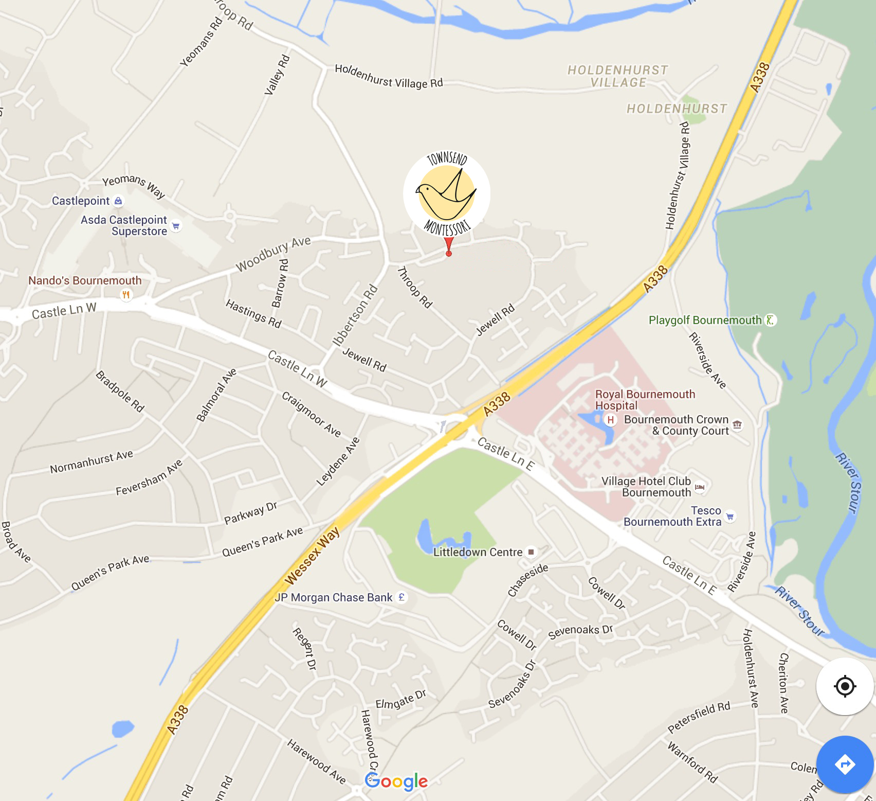 Townsend Montessori Map