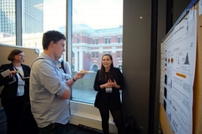 BSC 2018 - Alexa, explaining her work to poster enthusiasts...