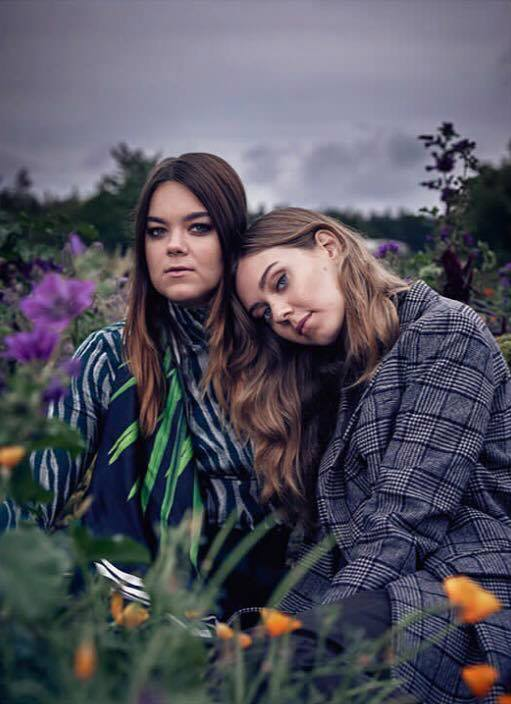 Beautiful photo of the First Aid Kit sisters - Cover photo for Citylife Magazine 2017. Featuring printed silk scarf from SS17