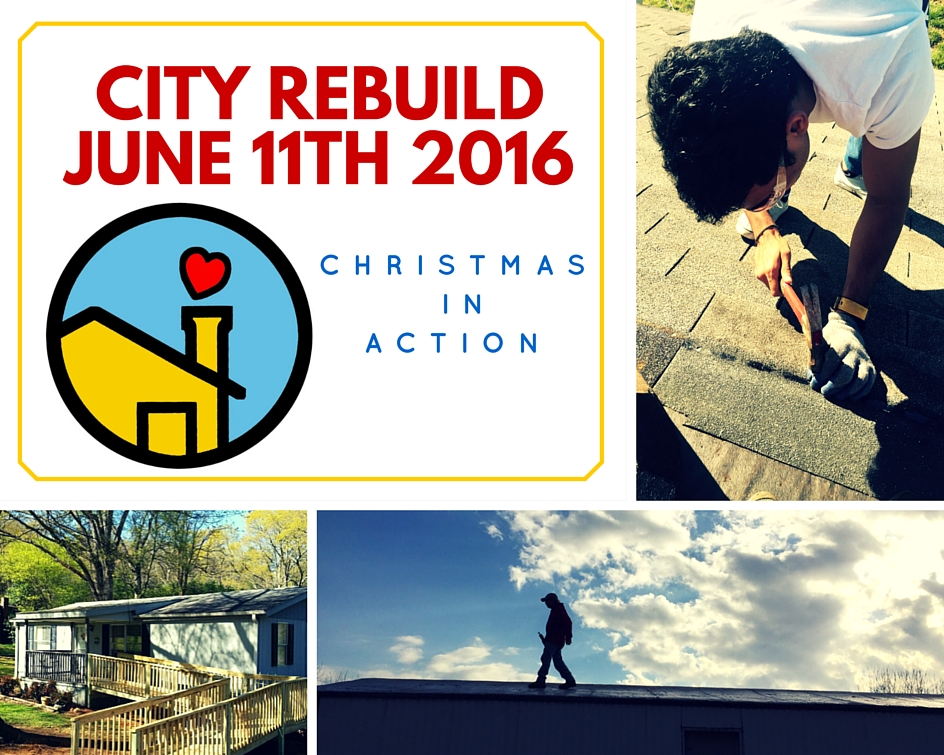 Coming up June 11th is our second ReBuild day taking place in the City of Spartanburg. We are working with J.W. Woodward Funeral Home to complete a house and hope to get more volunteers to join us. Please contact Program Coordinator Liz Evans at levans@ciaspartanburg.org if you are interested in joining a group or forming your own group on that day.