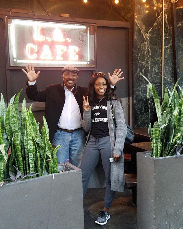 Dad! I know you love L.A.  One day it will be a 2nd home. I got us!  Love You #daddy #happyfathersday  Janae'