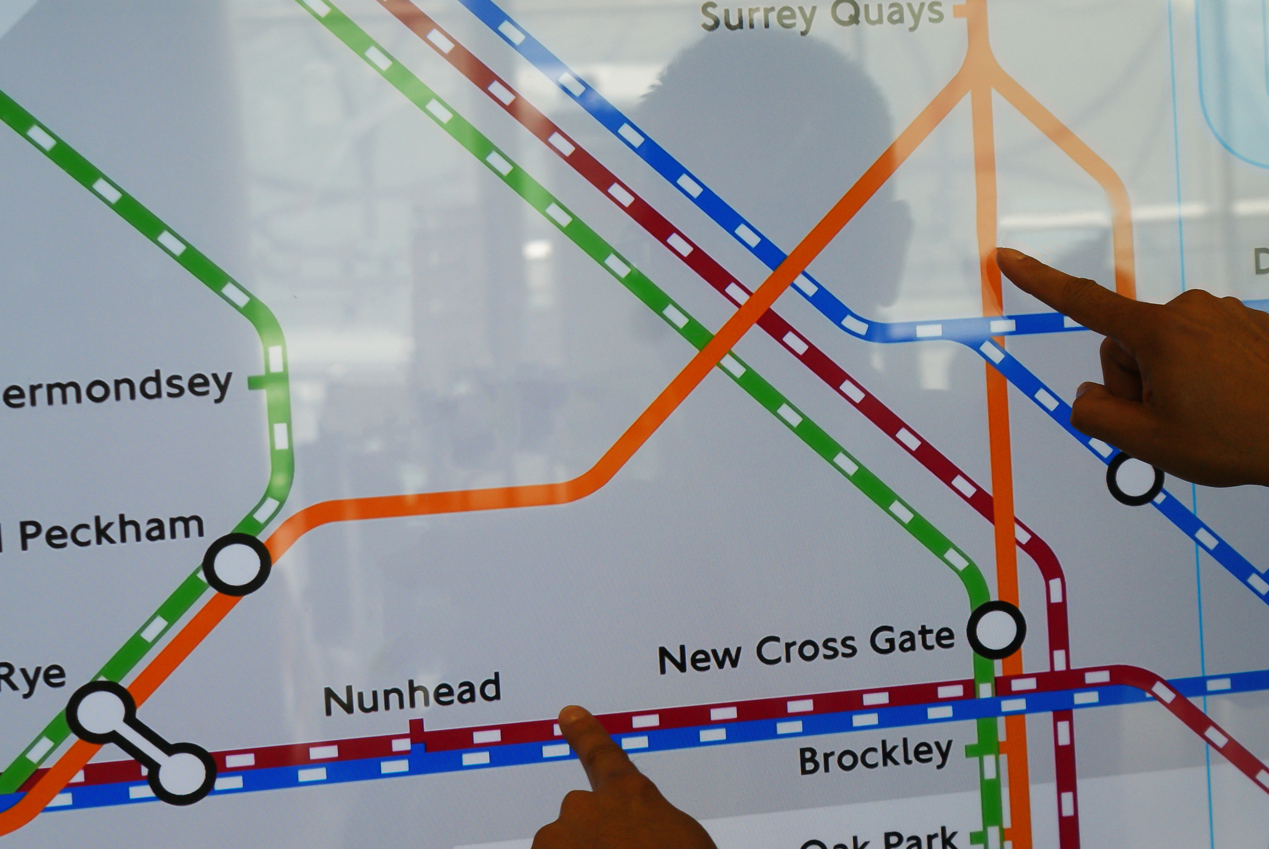 Pinch and Zoom feature on Interactive Overground Map