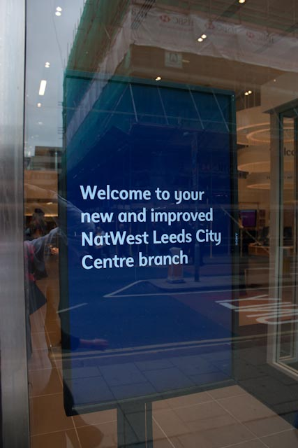 Digital signage placed in the windows also helped to attract and inform new customers.