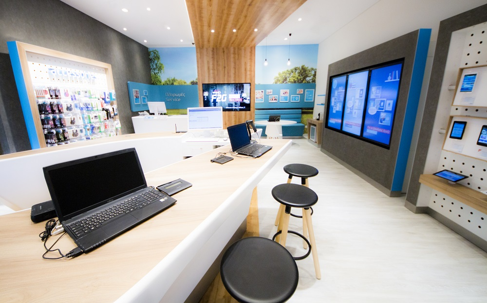 In-store touch screen devices.