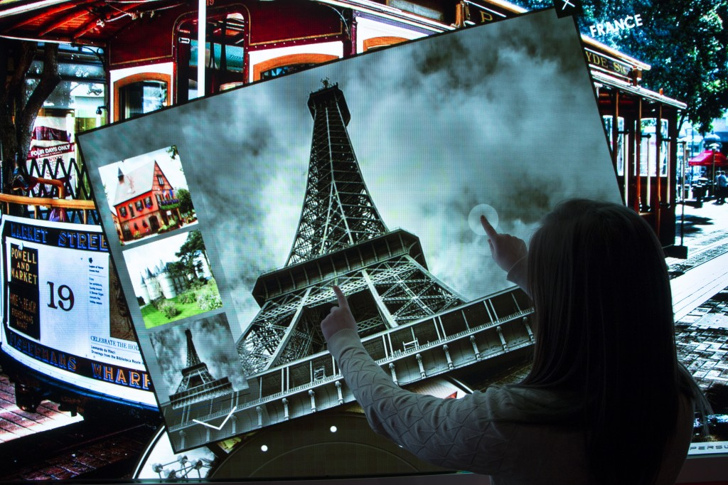 Personalising the experience with touch screens.