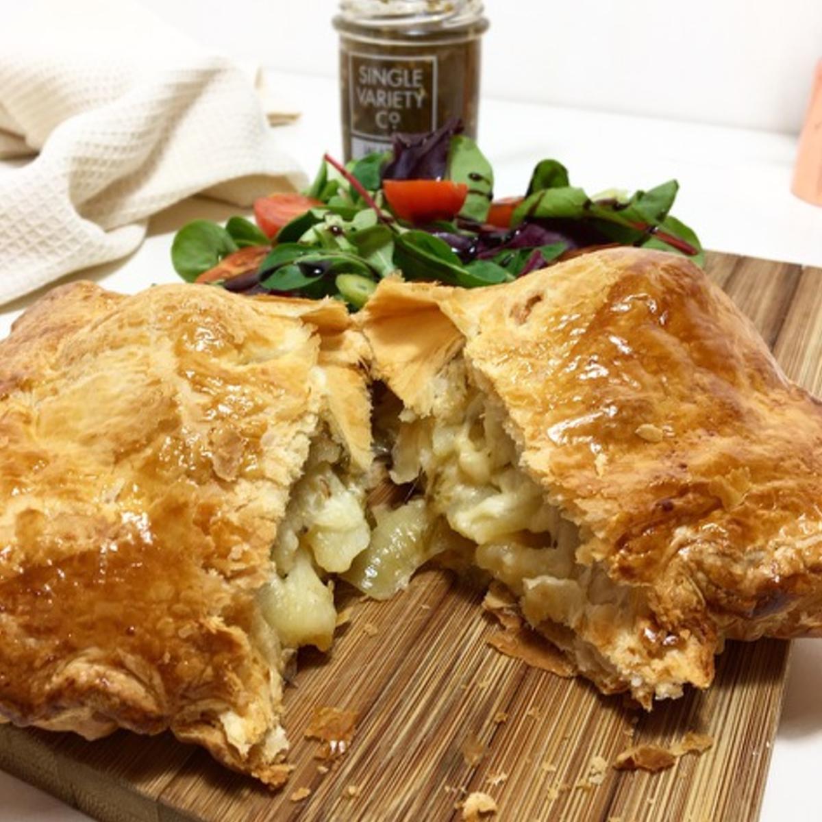 jalapeno, cheese & potato puff pie