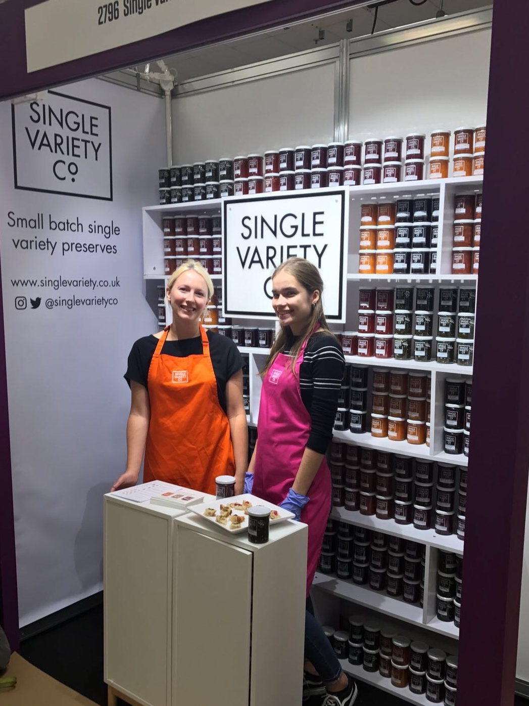food trade show stand