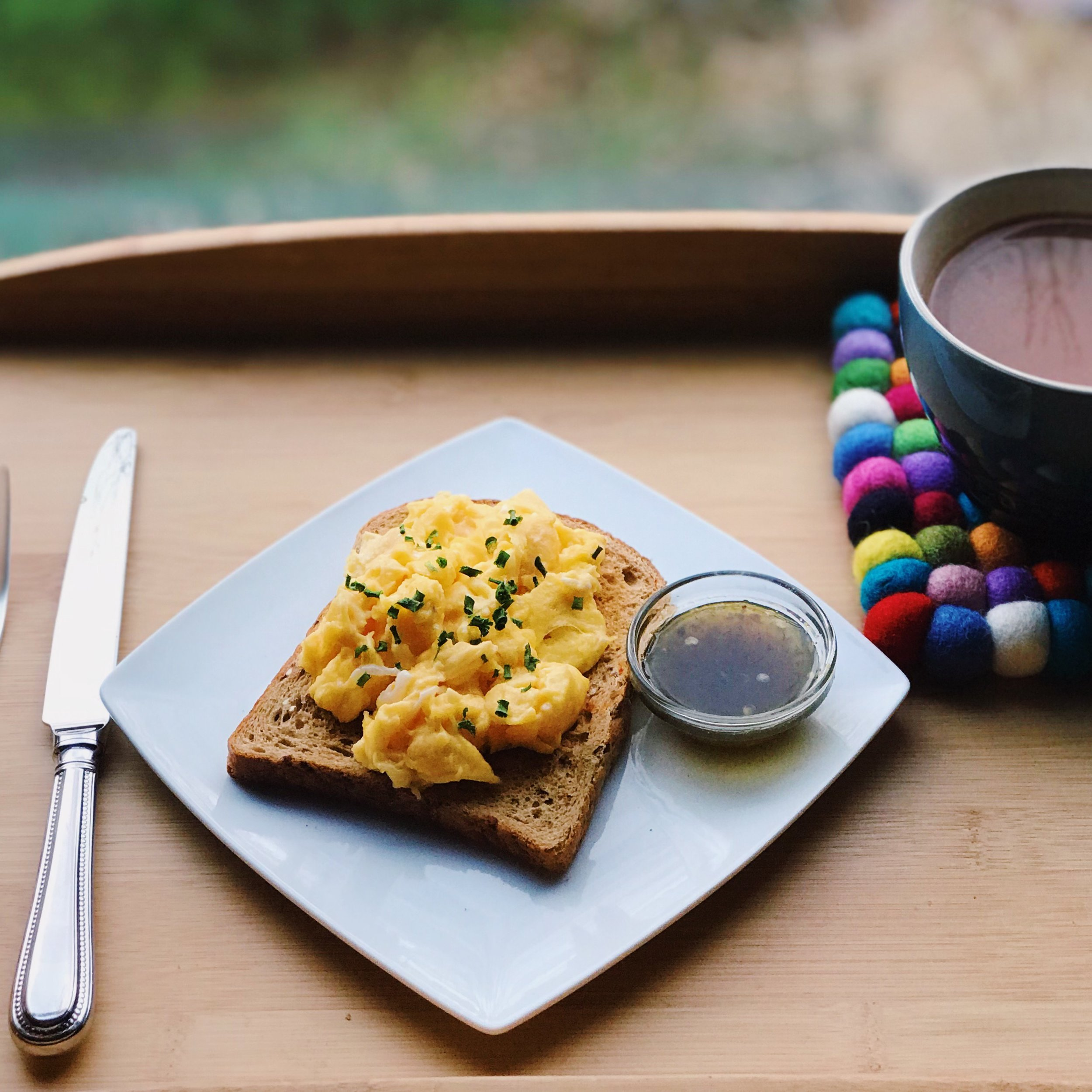 Eggs and Jalapeño Jam is a incredible combination. Try serving it with scrambled egg, drizzling over poached egg, or even with egg & soldiers smothering jalapeño jam on toast before dipping into a a runny egg.