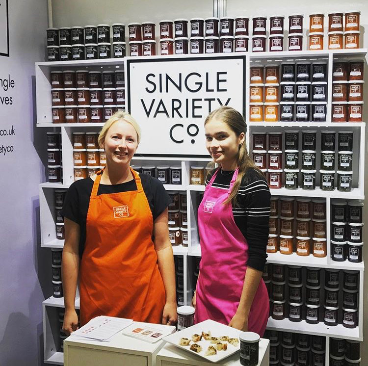 Nicola exhibiting at her first Speciality and Fine Food Fair in 2017.