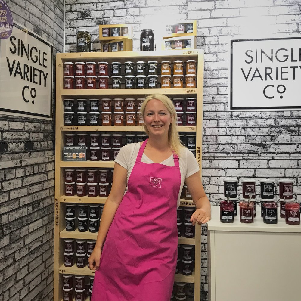 Nicola at Speciality and Fine Food Fair in 2018.