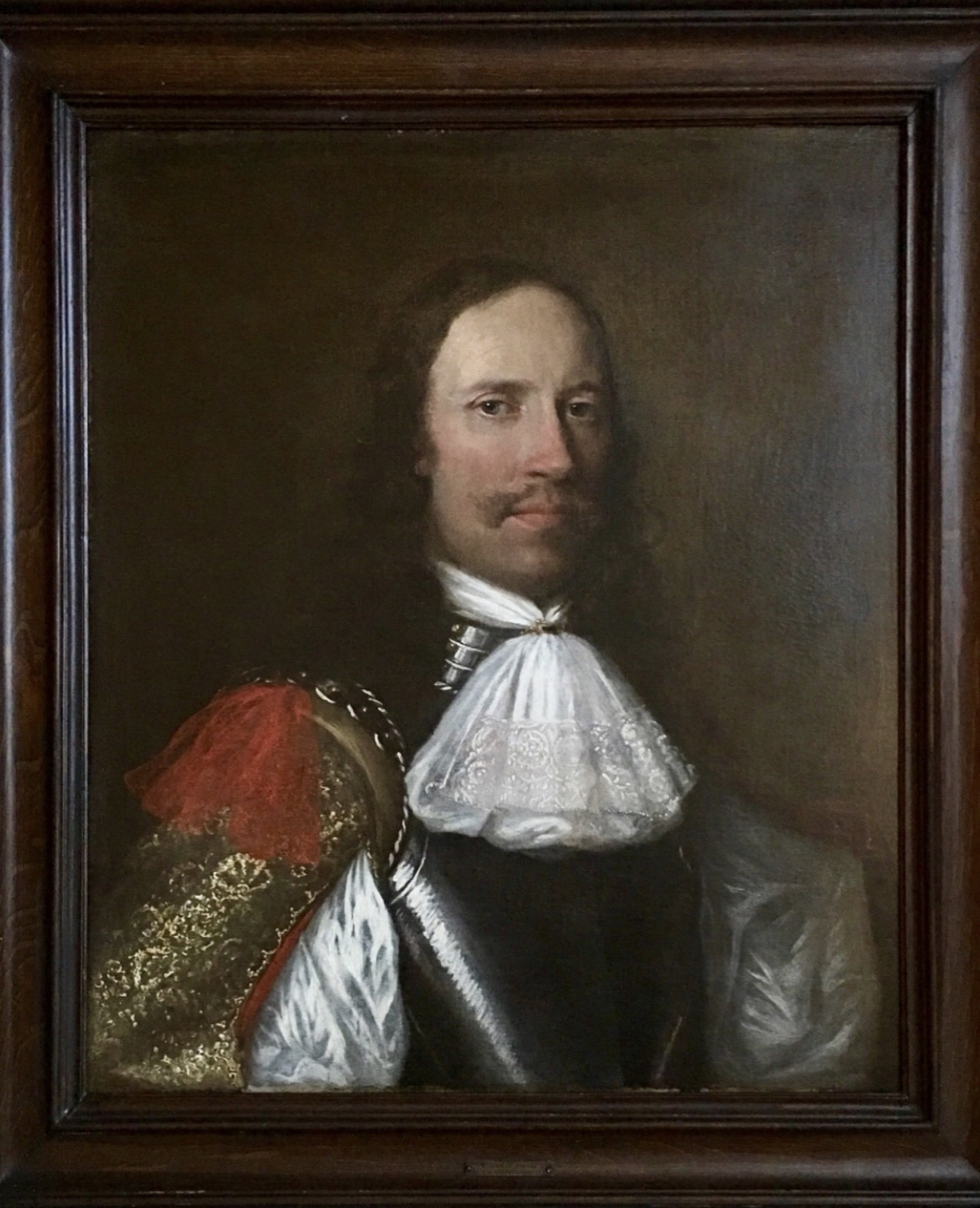 Portrait of an Officer in Armour - Circle of William Dobson.