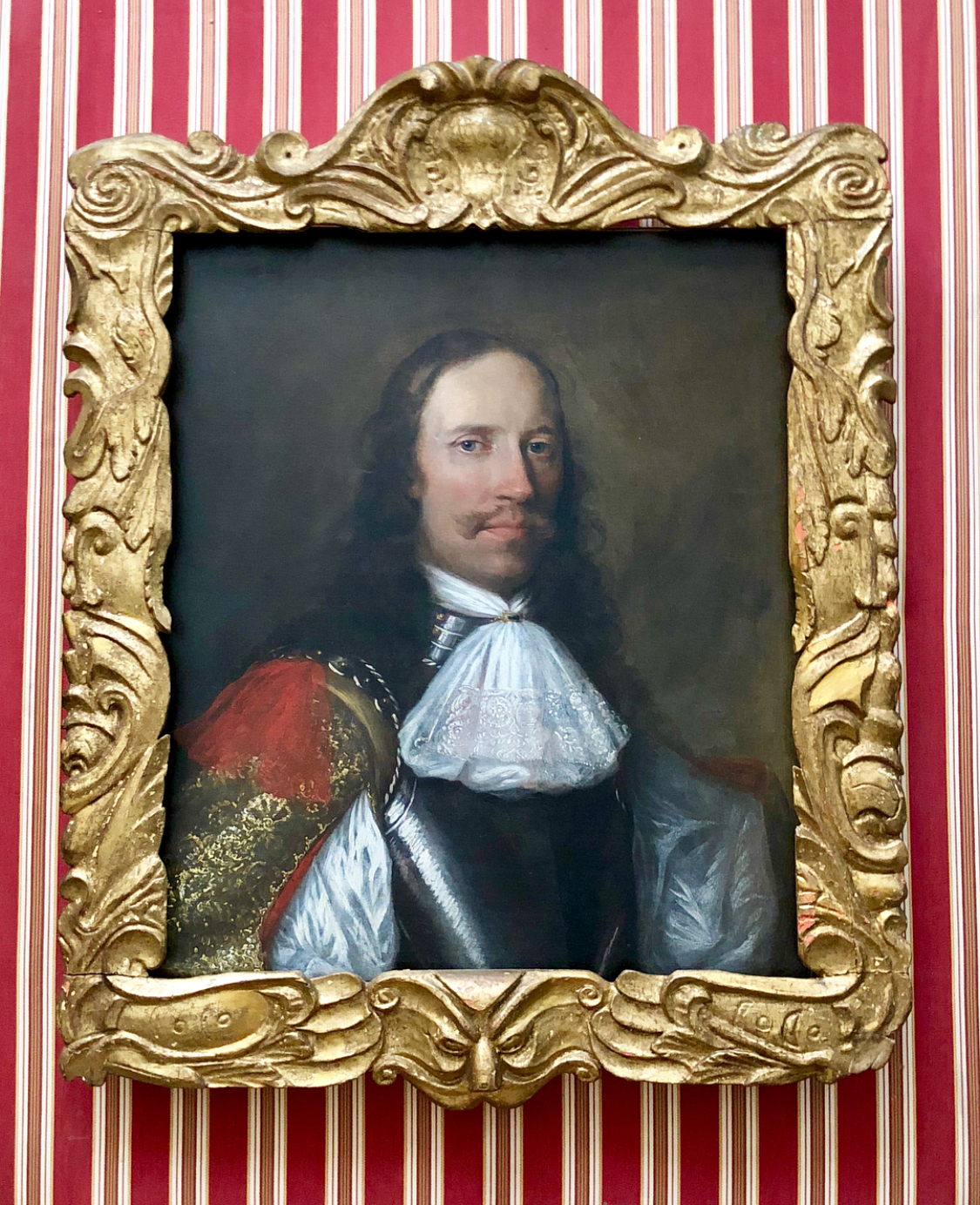 Portrait of an Officer in Armour - Circle of William Dobson (partially reframed)