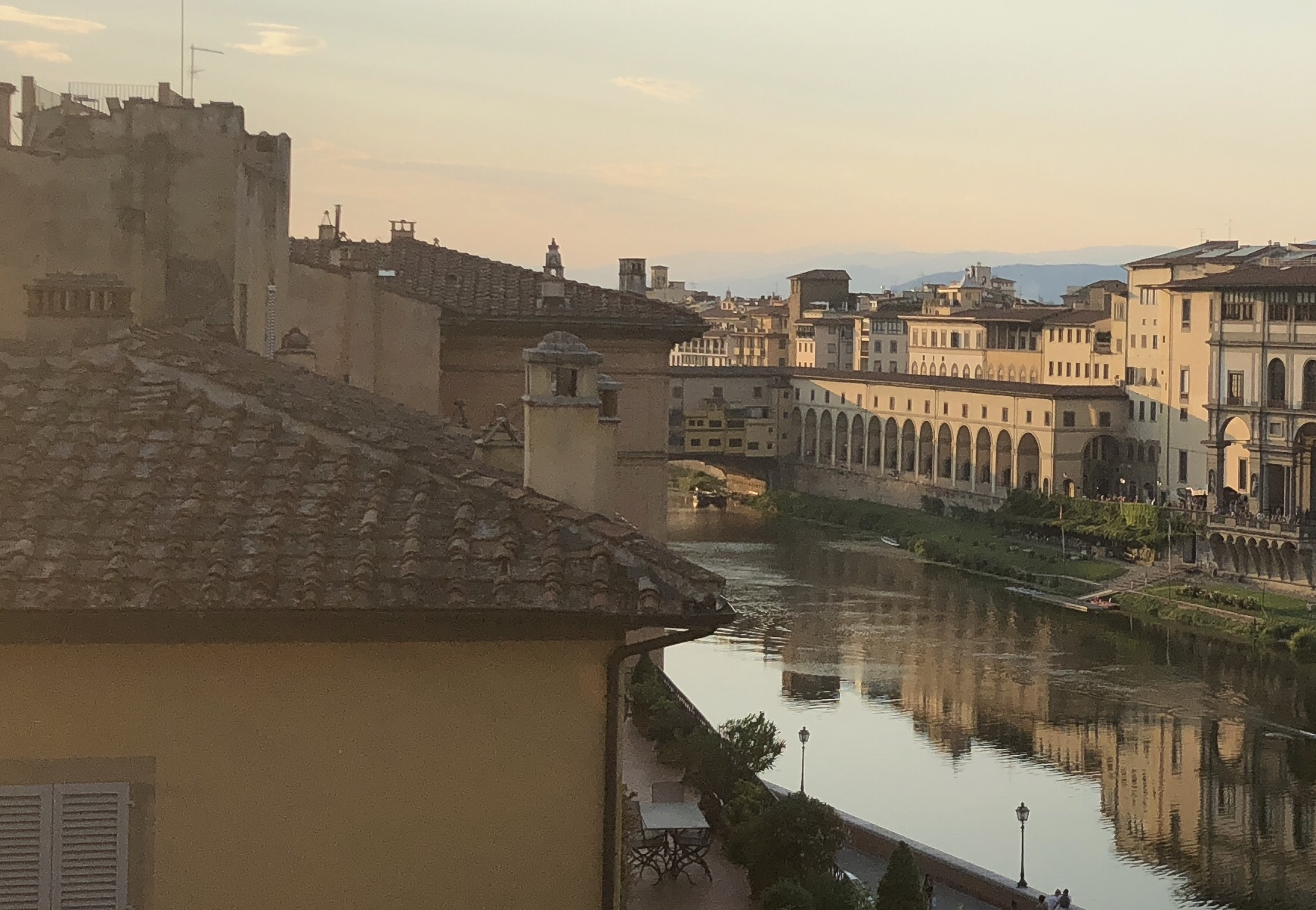 A View of Florence and the Arno River.