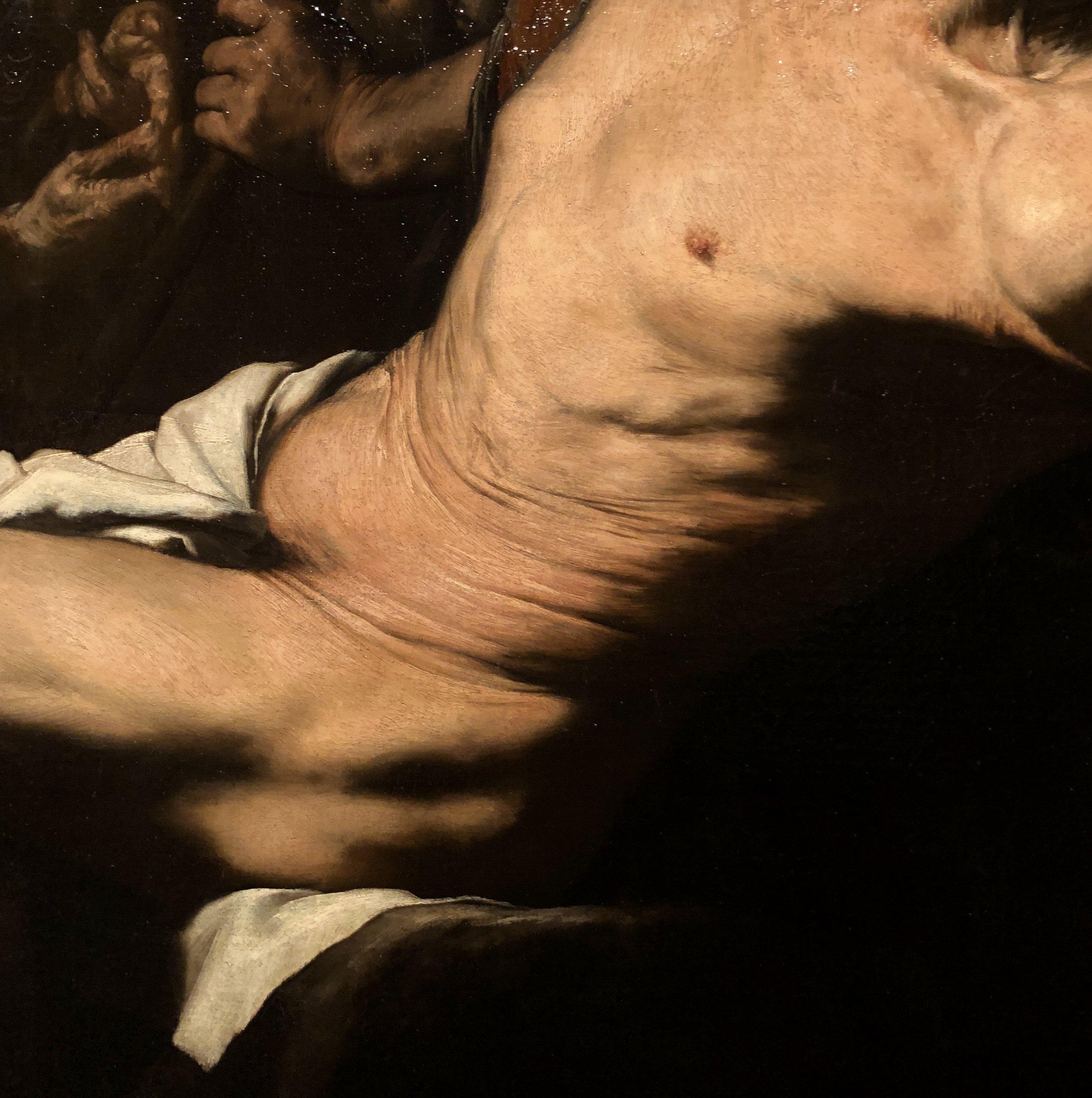 St Bartholomew by Ribera (detail)