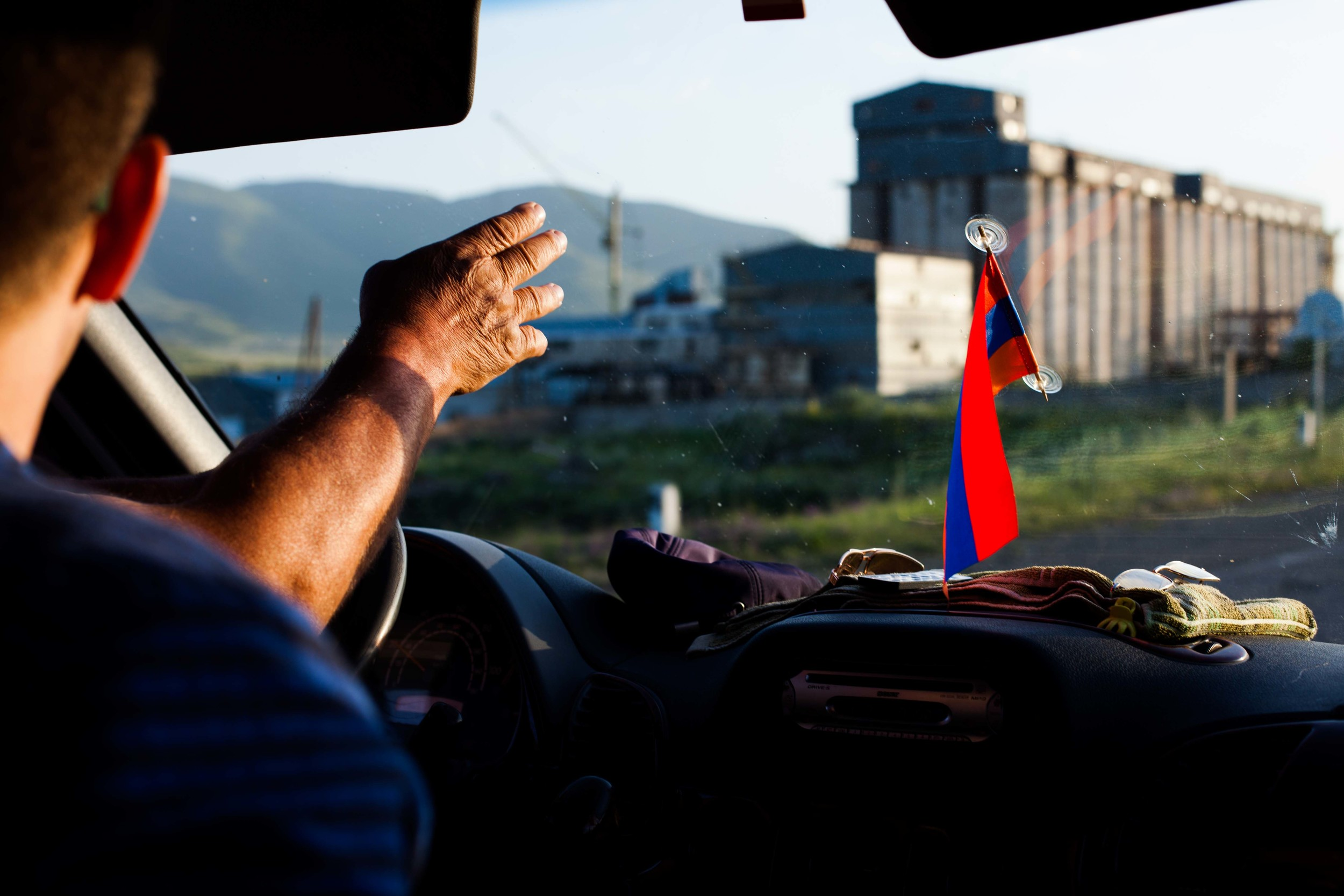 Armenia is a landlocked country bordered by Turkey to the west, Georgia to the north, Iran to the south, and Azerbaijan to the east. However, due to political issues, only the borders with Georgia and Iran are open.