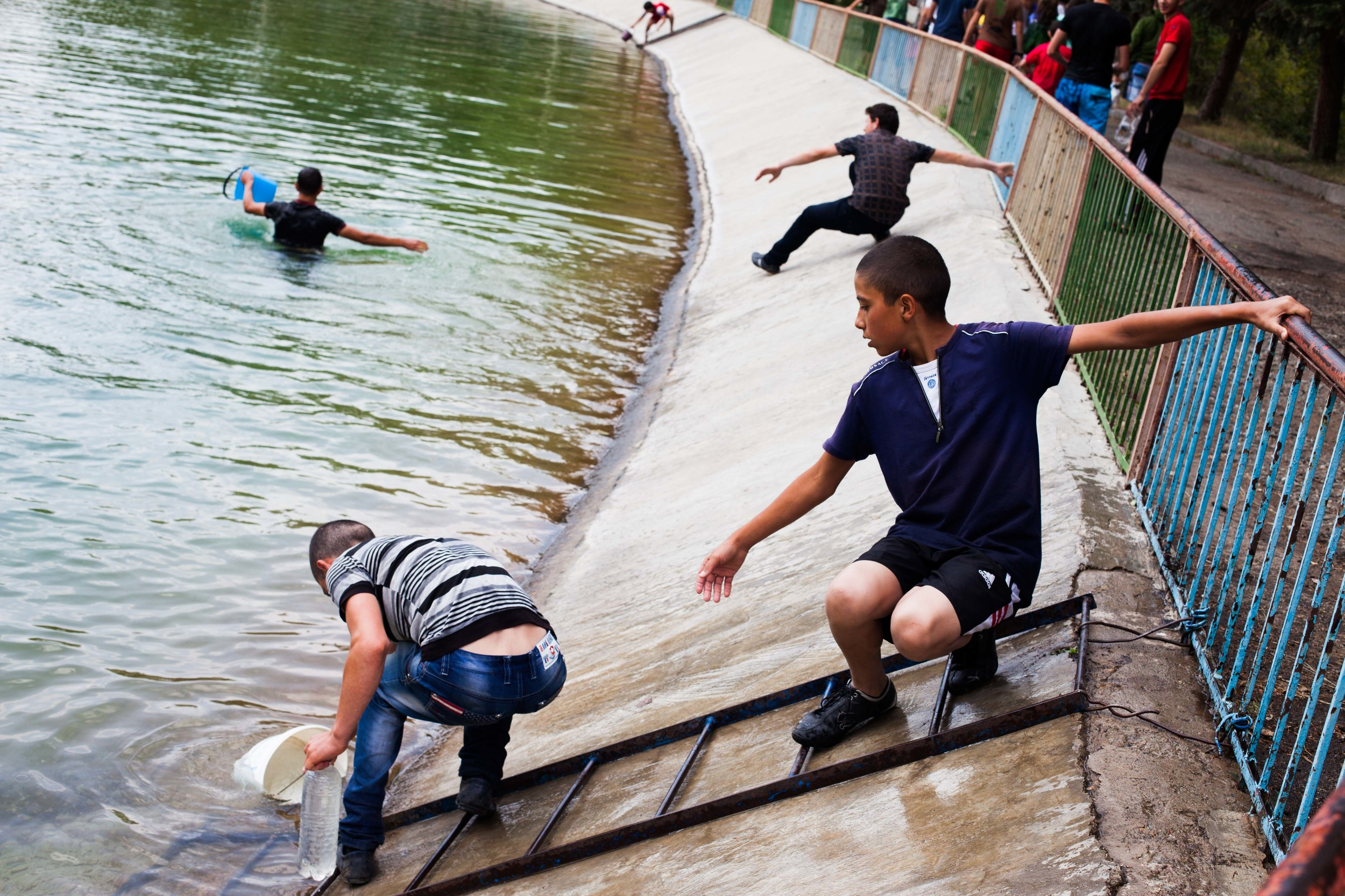 Spitak youth enjoy the festival of Vardavar, which comes 14 weeks after Easter and is influenced by the country's Pagan roots, is an opportunity for people of any age to douse friends and unsuspecting strangers with water without consequence.