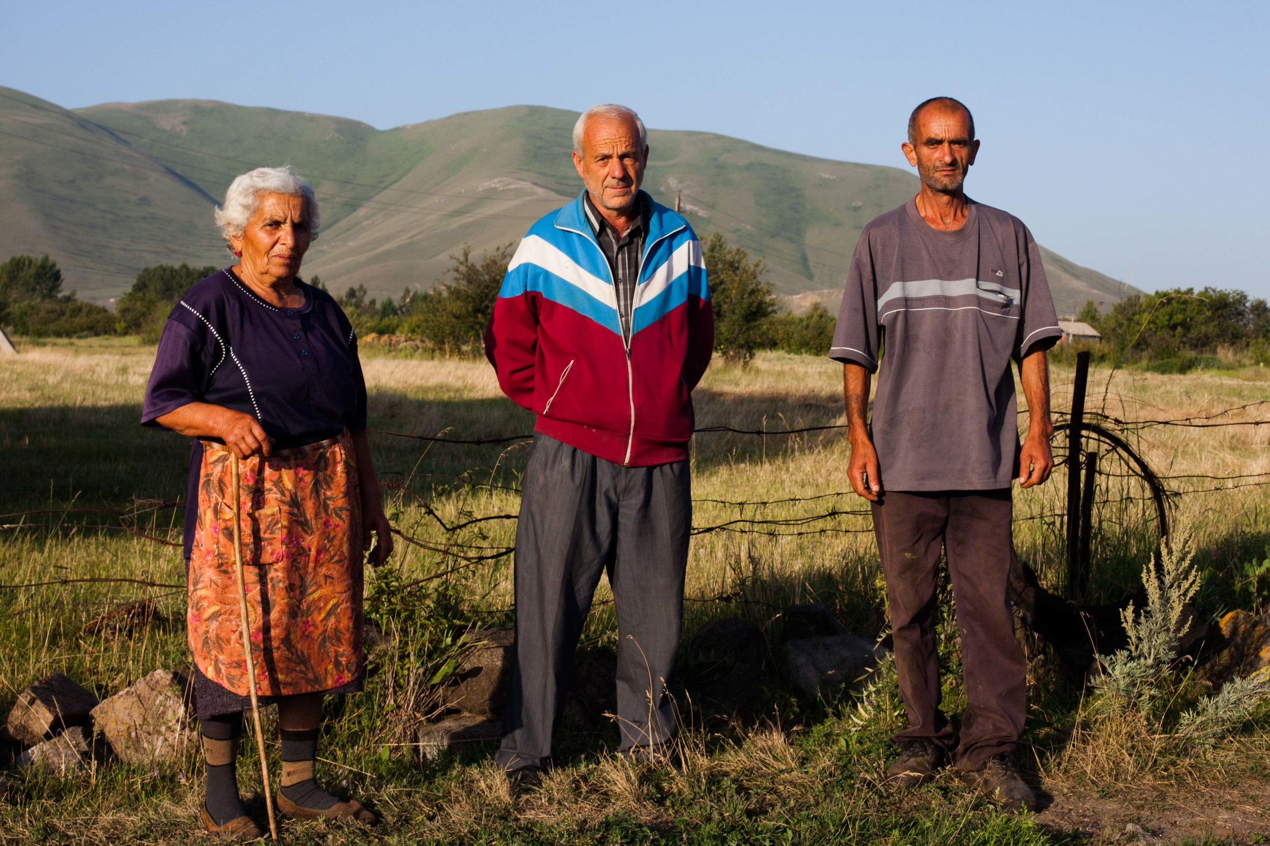 Local Spitak residents are up at sunrise to maintenance their land and to send their cows off with the shepherd.