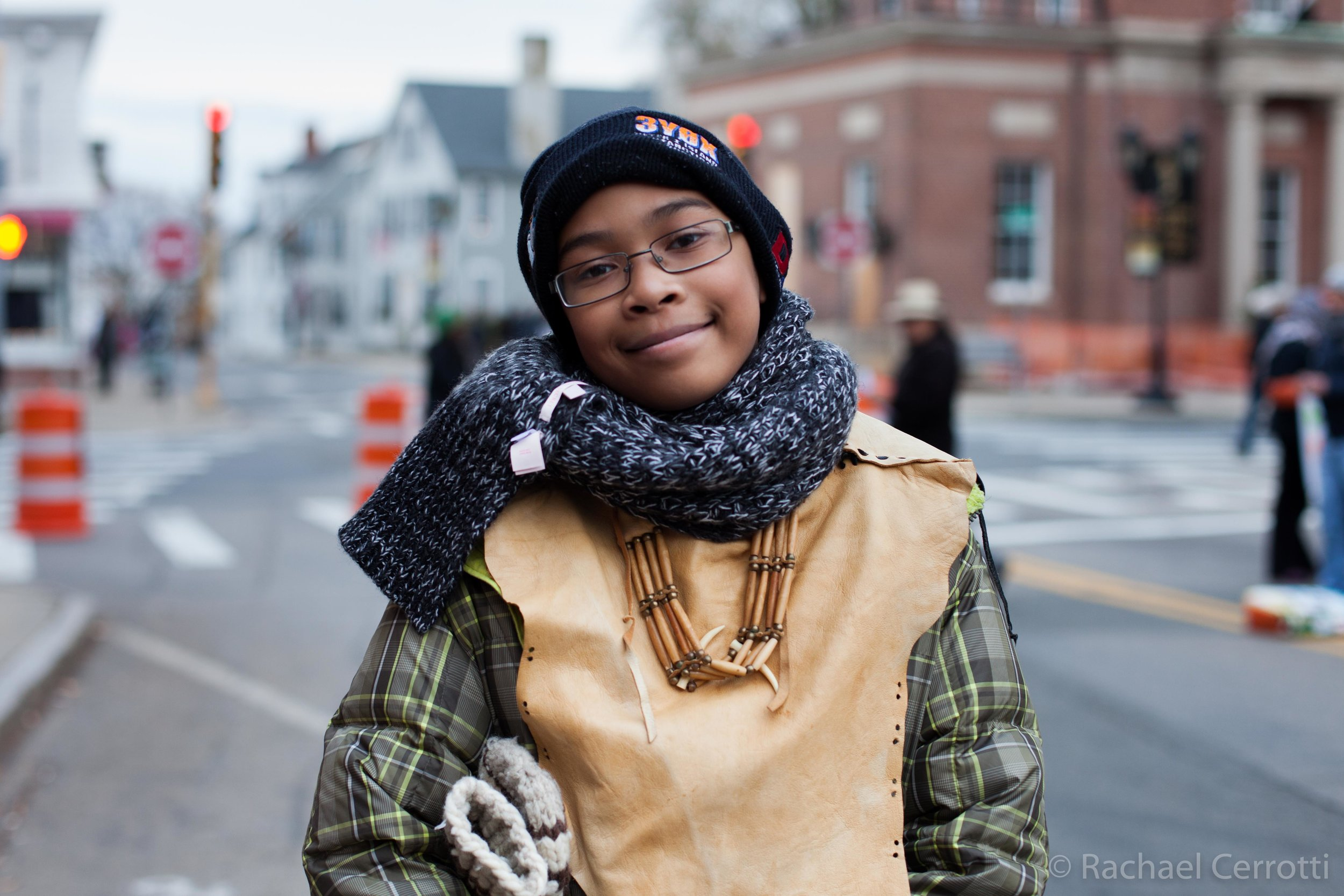 Herbie Waters IIII,13, comes from the Wampanoag Nation. He was born in Rhode Island and now lives in New York