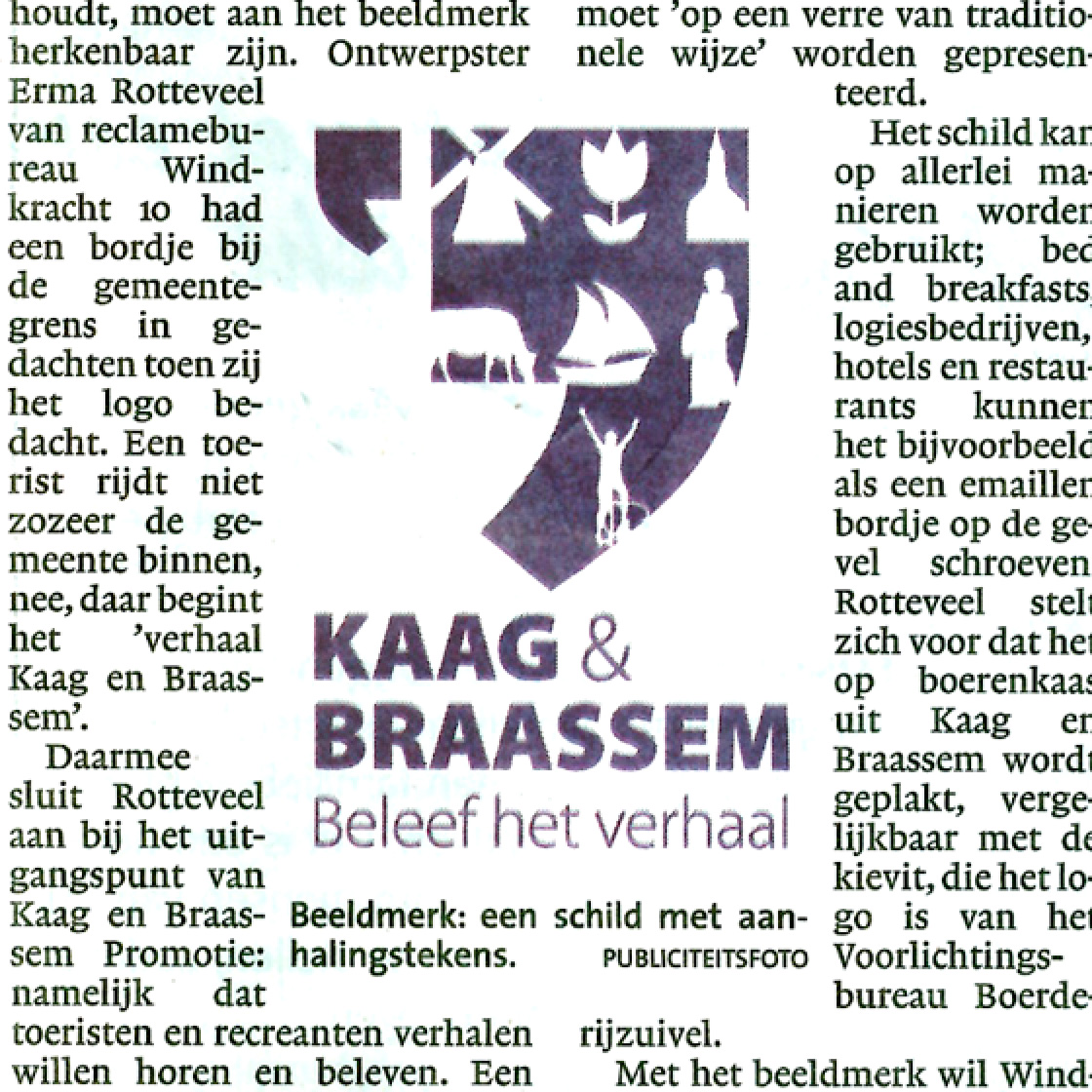 Logo voor 'verhaal' recreatie  Leidsch Dagblad  02-05-12
