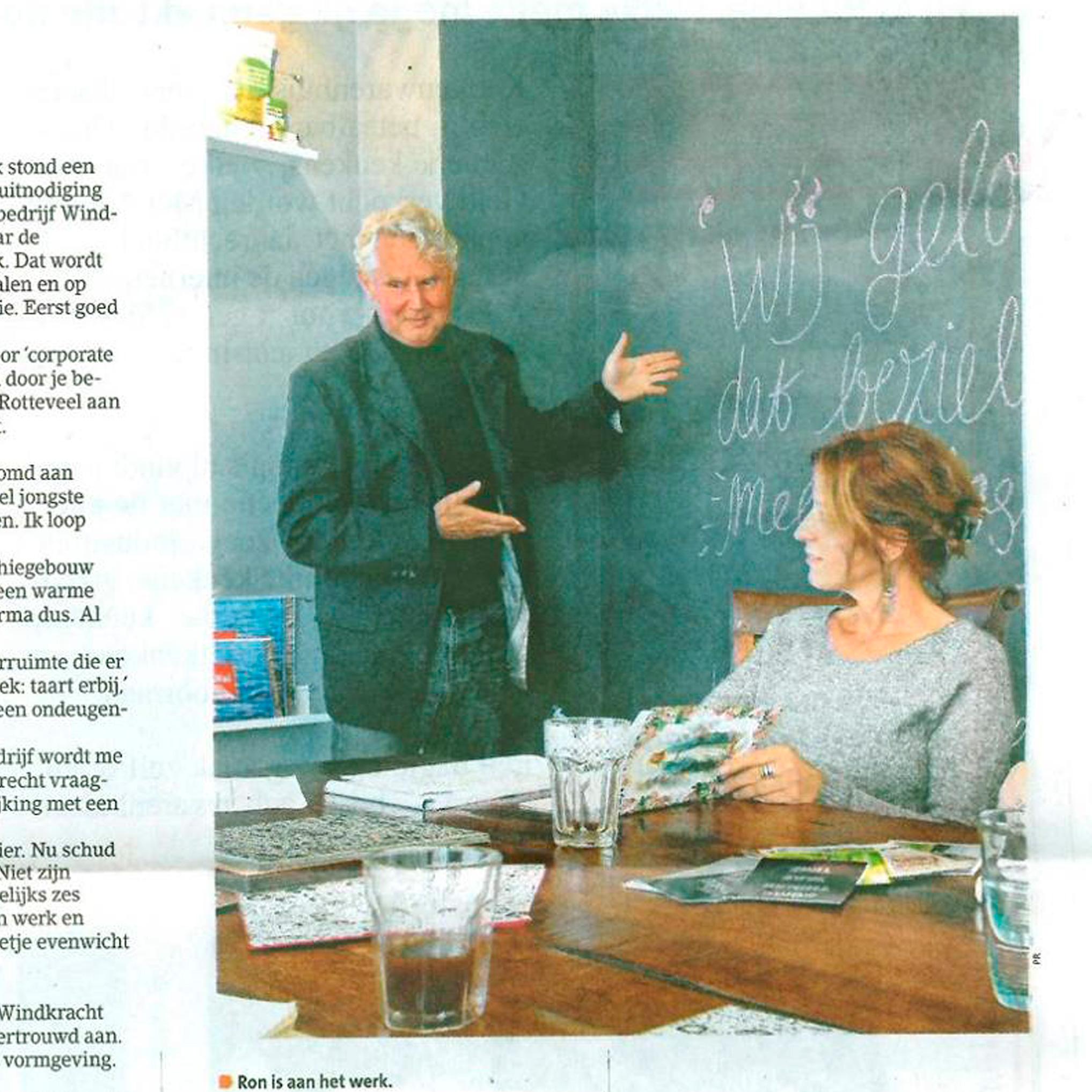 Ron gaat voor de baan  Witte Weekblad Kaag en Braassem  20-11-17