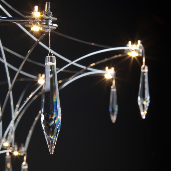 Quasar Mira chandelier detail