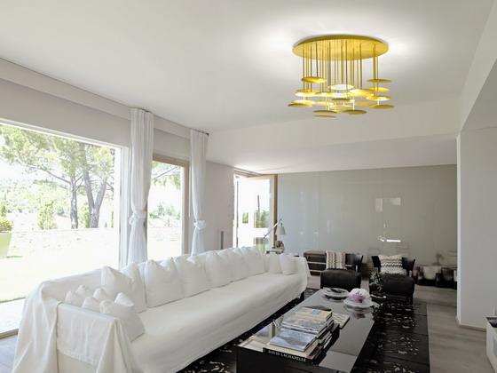 Millelumen Circles ceiling light in gold