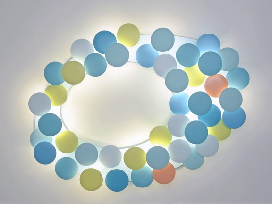 Millelumen Circles ceiling and wall light coloured