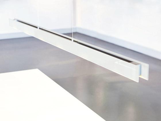 Millelumen Individual linear pendant light white glass
