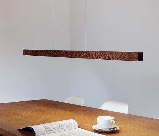 Millelumen Individual linear pendant light wood