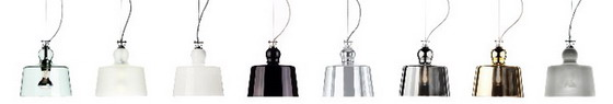 Produzione Privata Acquatinta pendant light options