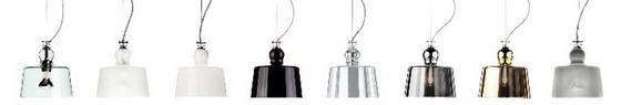 Produzione Privata Acquatinta pendant light options