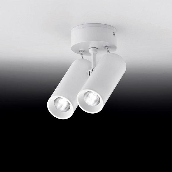 Milan iluminación Tub Led double celing spotlight