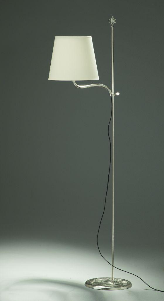 Objet Insolite Grande Vesta floor light nickelled