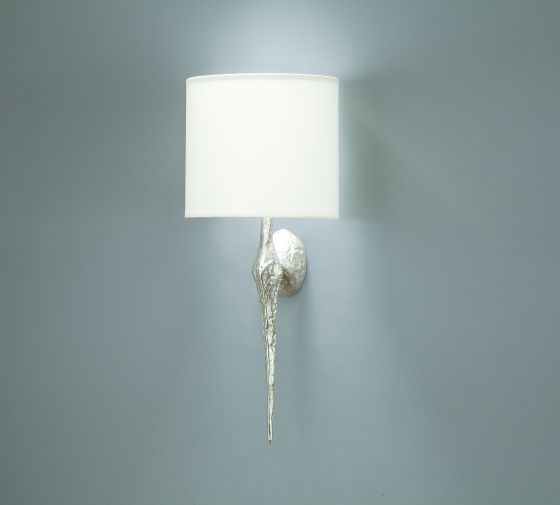 Objet Insolite Petite Torchère wall light in nickel