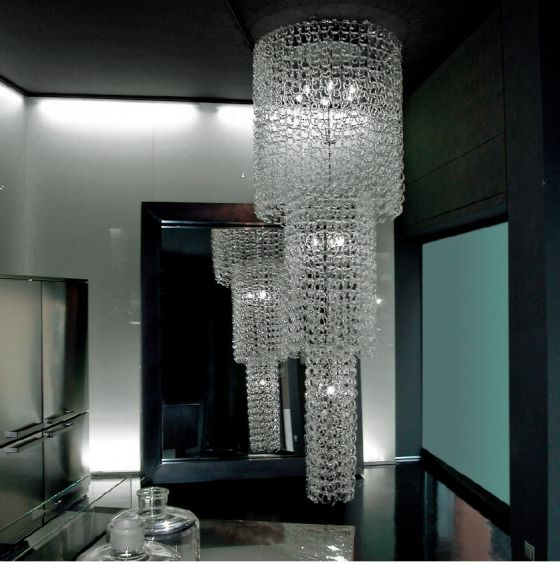 Vistosi Giogali chandelier in Boffi Milan showroom