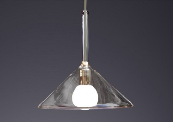 Blues glass pendant light from Trilamp