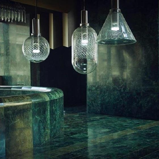 Bomma Phenomena family of large glass pendant lights