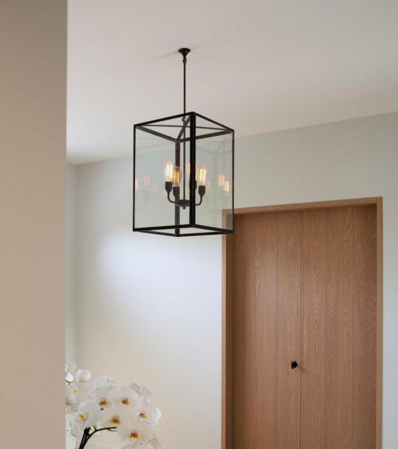 Nautic lantern indoors