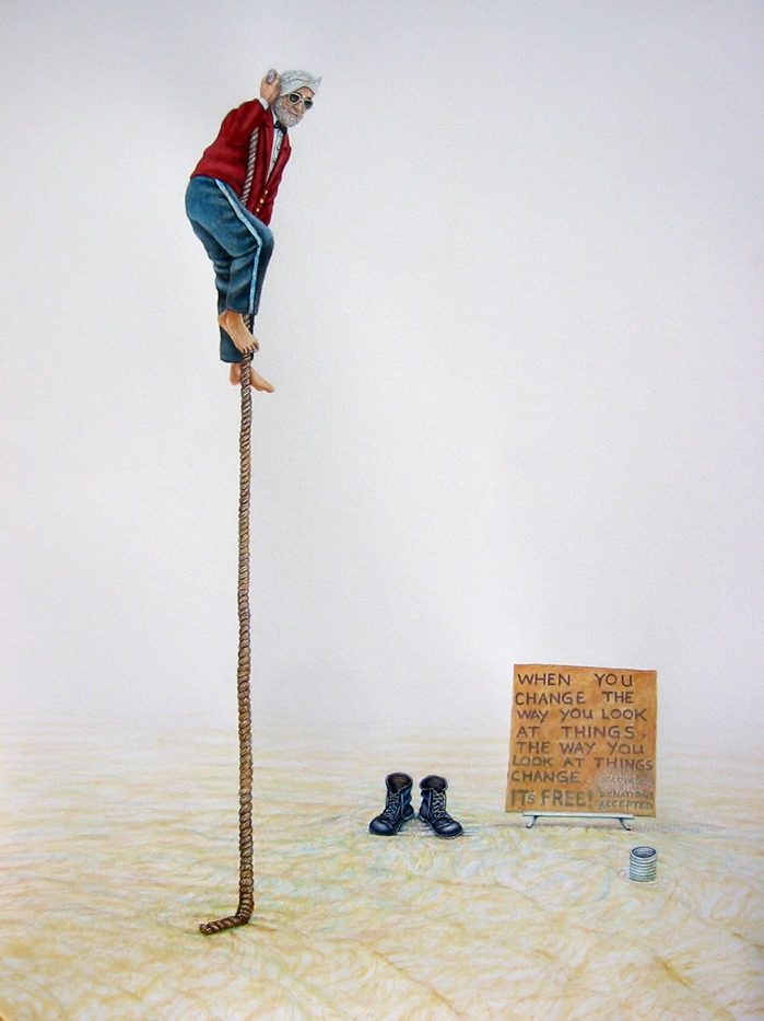 Rope Trick #2   2007  30x22  watercolor