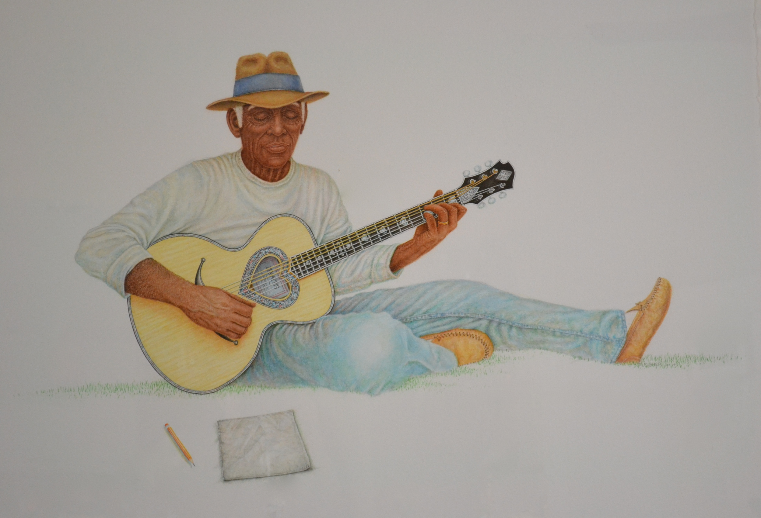 Songwriter  2011  40x30  watercolor
