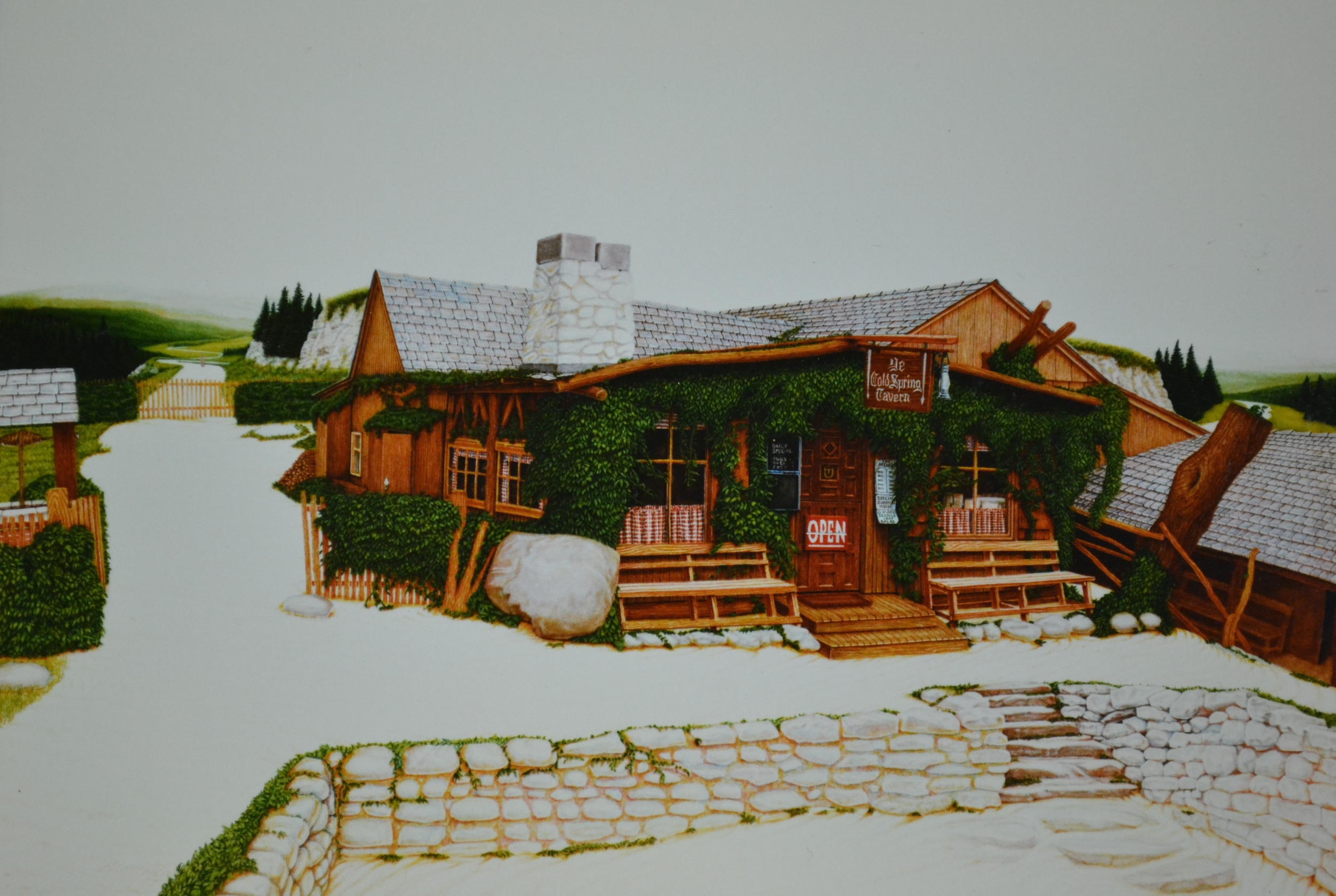 Ye Cold Spring Tavern  1987  40x30  watercolor
