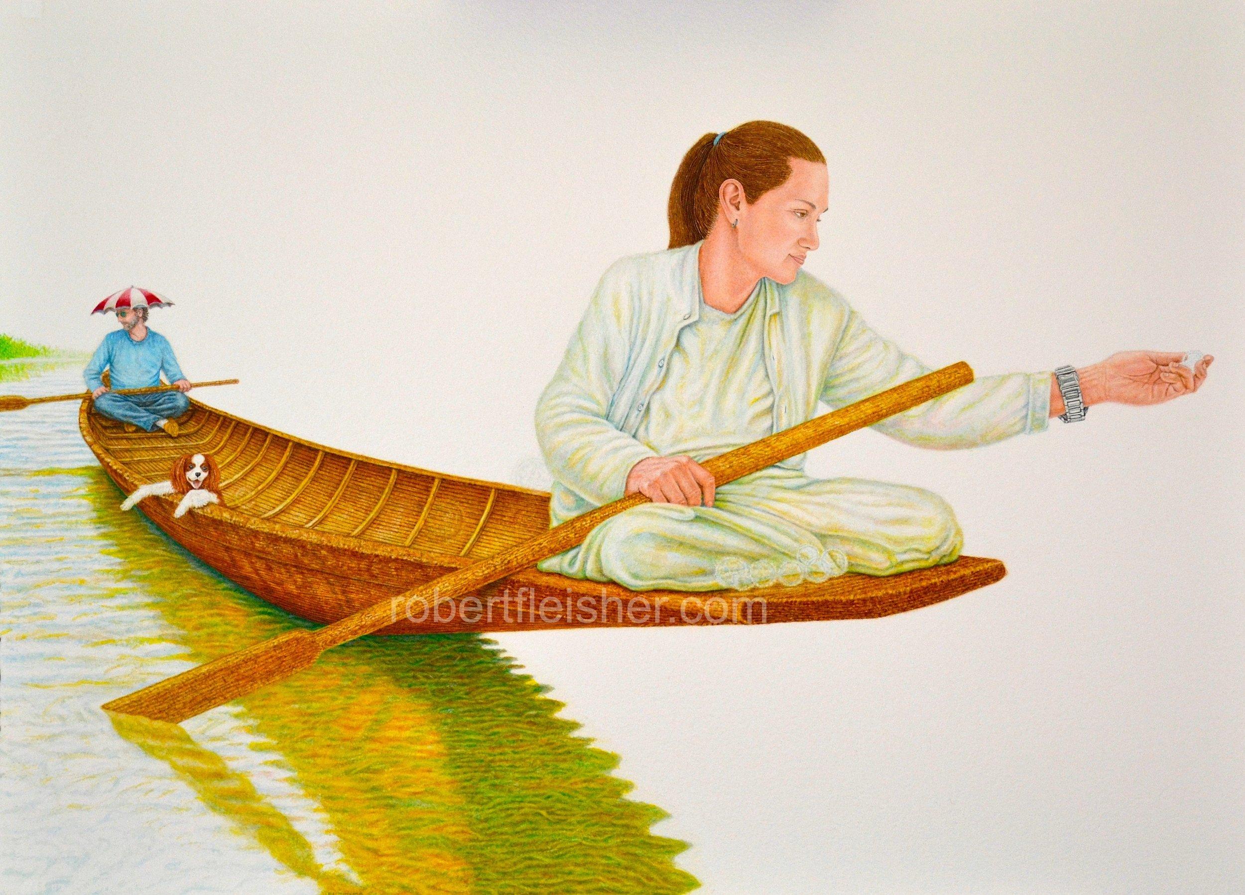 Spirit Gatherer's   2016   30x22  watercolor
