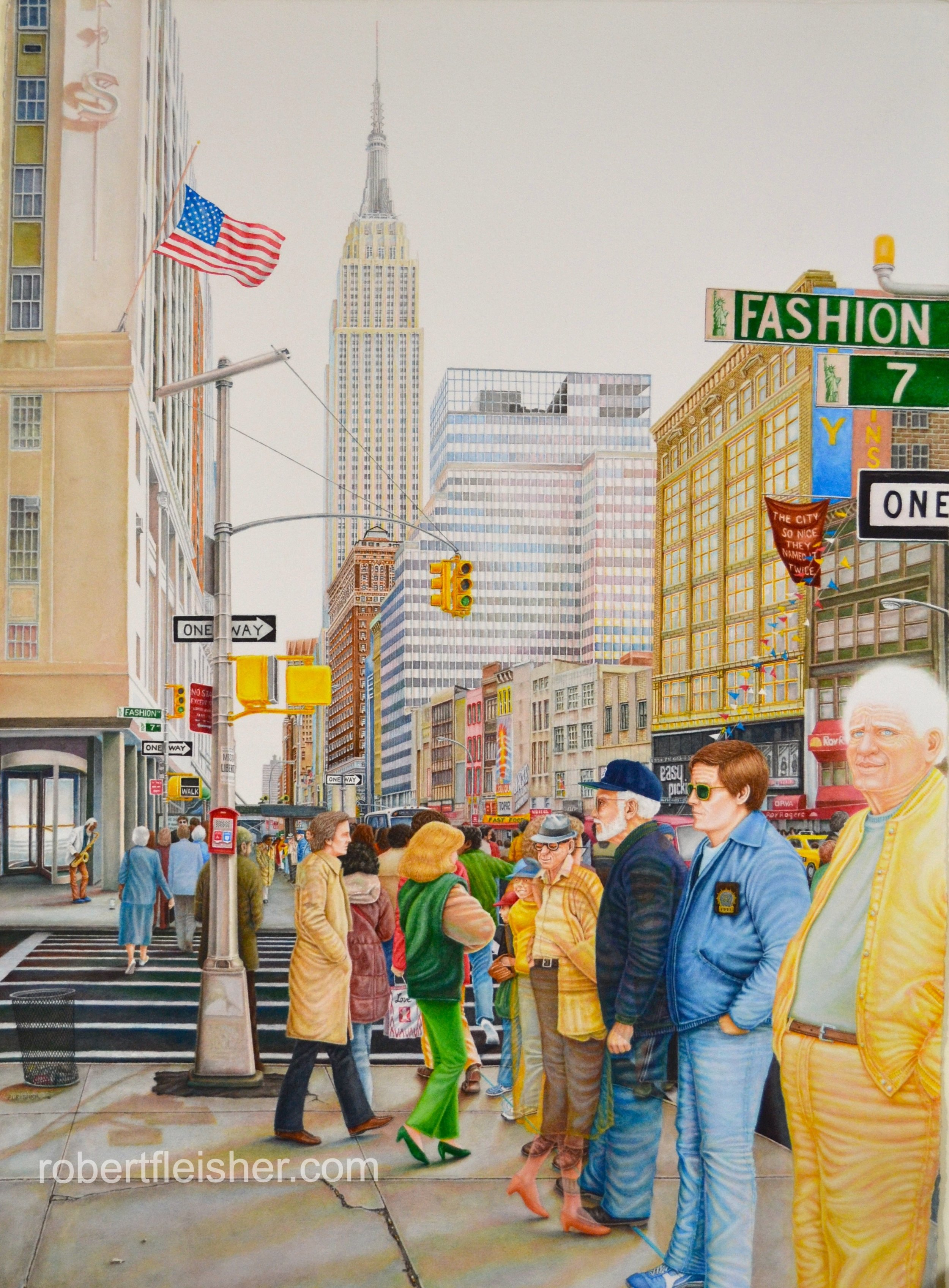 New York City   1985   40x30   watercolor