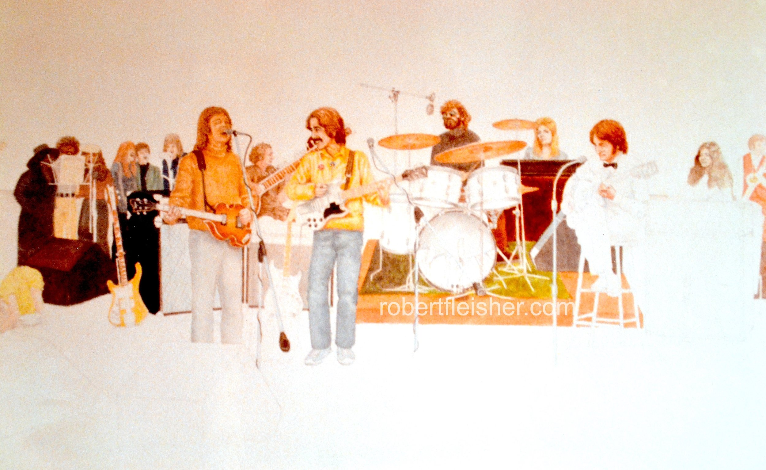 The Beatles, unfinished,  1975  30x20  watercolor