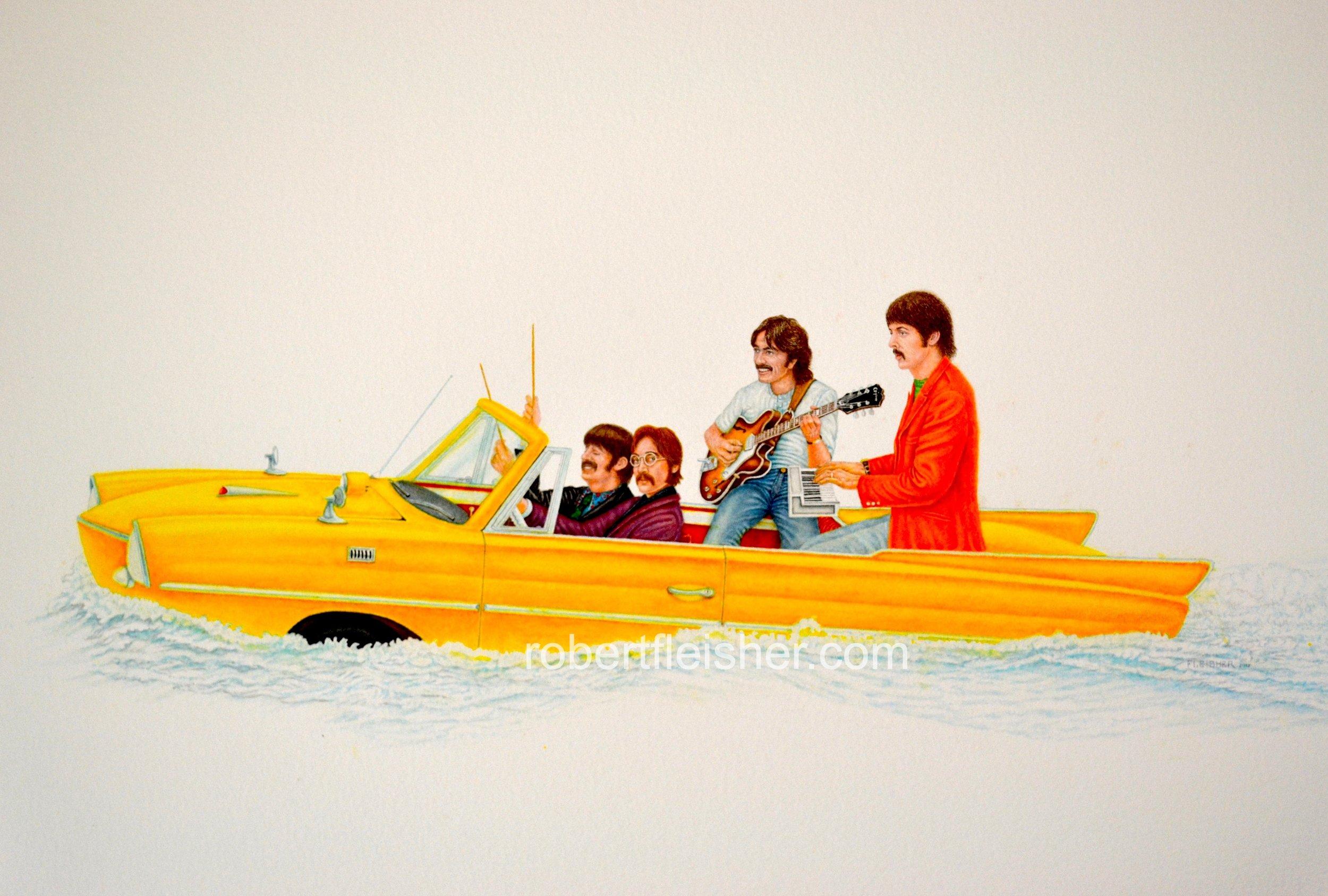 The Beatles, circa 1967,   2017  30x22  watercolor