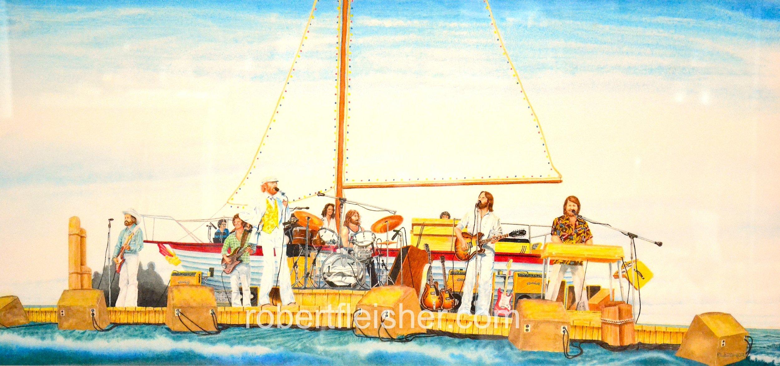 The Beach Boys    1977   30 x 13   watercolor